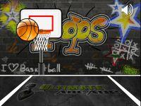 Hüpfender Basketball
